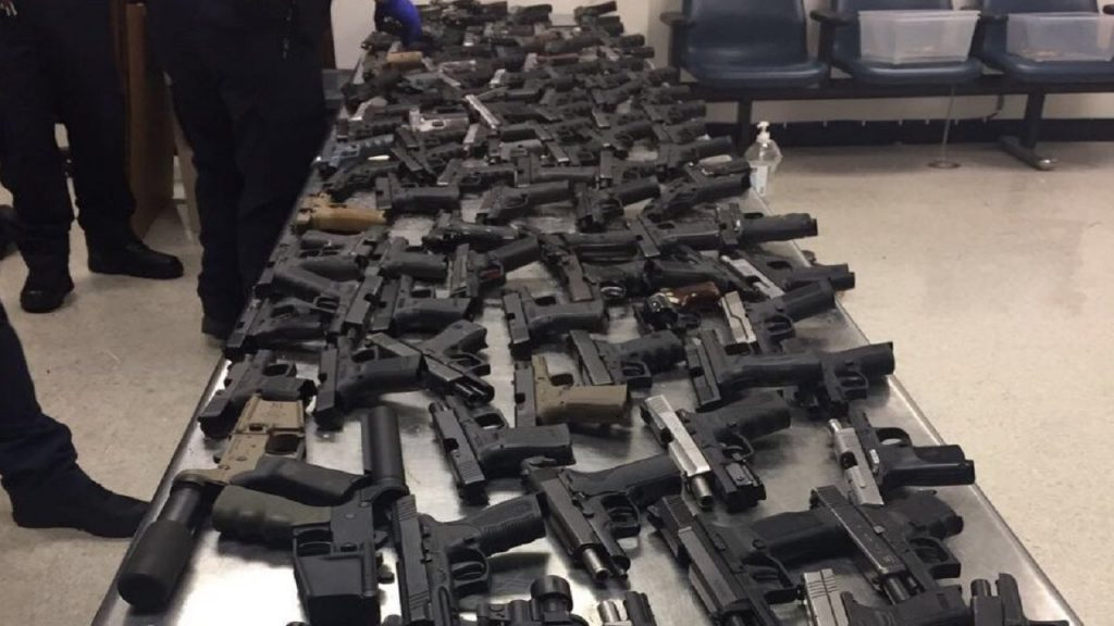 Over 100 guns destined for Jamaica intercepted by US cops
